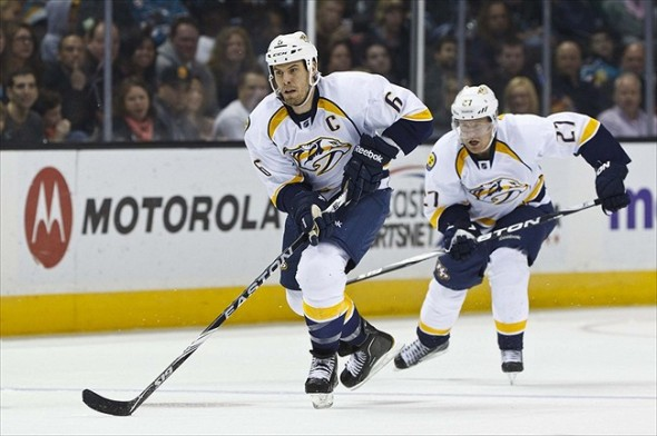 Shea Weber, captain of the Nashville Predators