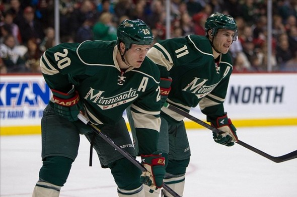 Ryan Suter takes on the Nashville Predators
