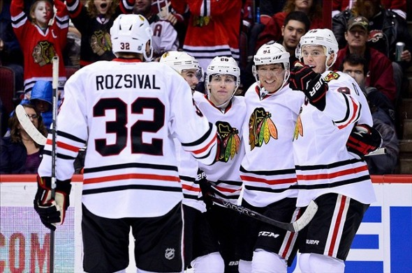 Central Division leaders the Chicago Blackhawks