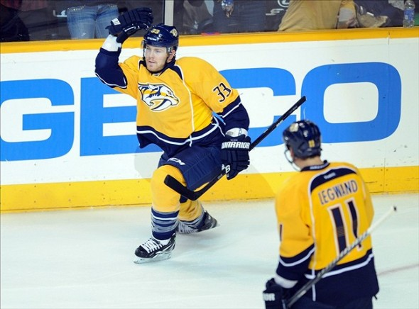Forward Colin Wilson of the Nashville Predators