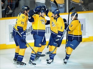 Nashville Predators forward Colin Wilson could see top-line minutes against Anaheim