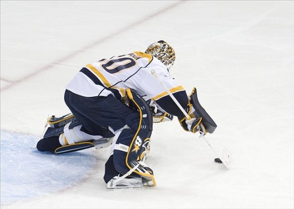 Nashville Predators goalie Chris Mason