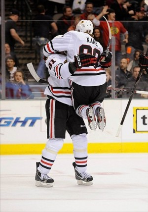 Central Division leaders, the Chicago Blackhawks