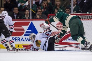Central Division leaders, the Chicago Blackhawks, finally lost last night