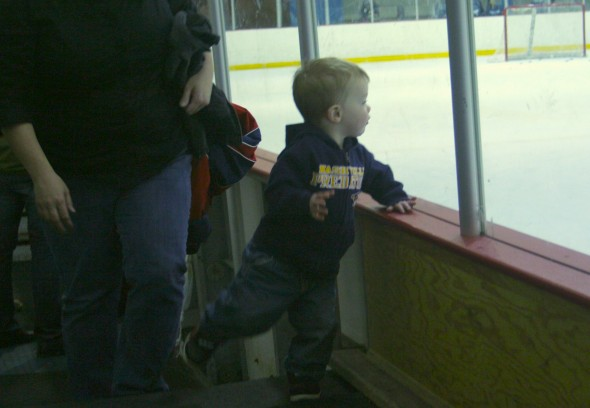 Even the kids came out for Nashville Predators training camp