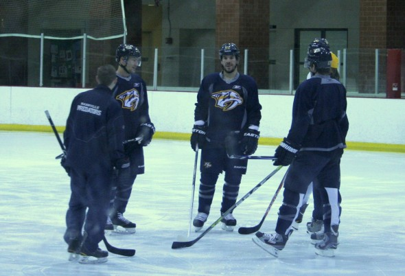 Scott Hannan at Nashville Predators training camp