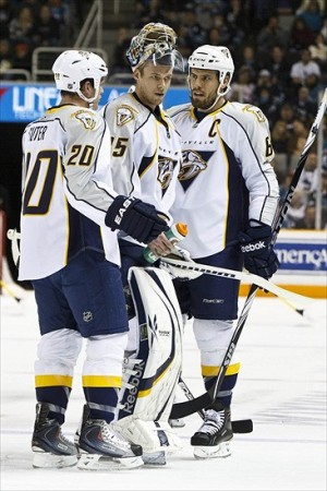 Shea Weber and Pekka Rinne are still around; Ryan Suter, not so much.