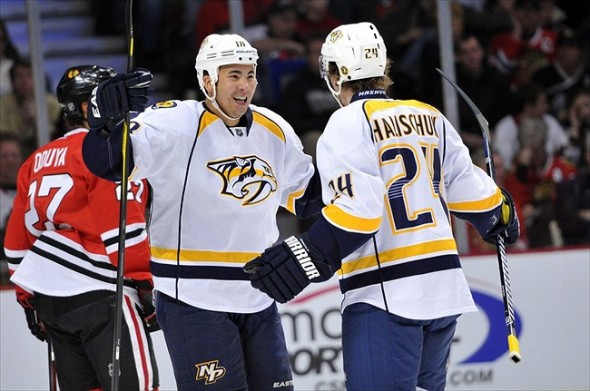Grinder hockey in Nashville often means Brandon Yip and Matt Halischuk