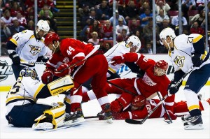 Nashville Predators fans hate the Detroit Red Wings