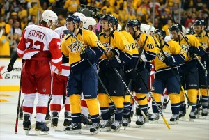 Nashville Predators versus Detroit Red Wings