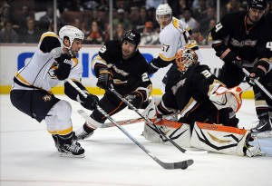 Anaheim has put a crimp in the Nashville Predators schedule