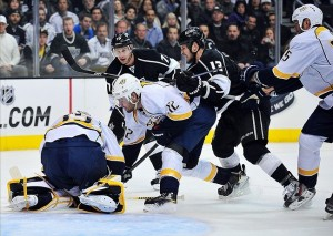 Nashville held ground in the Central Division with a win last night in Los Angeles