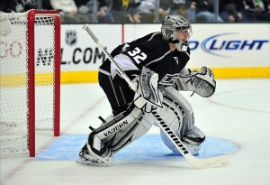 Jonathan Quick takes on the Nashville Predators