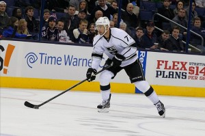 Jeff Carter had a hat trick against the Nashville Predators