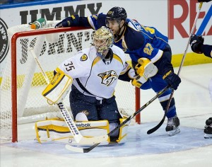 Nashville Predators goalie Pekka Rinne is looking better and better