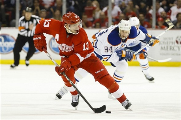 Pavel Datsyuk takes on the Nashville Predators tonight