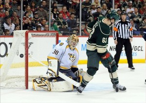 Chris Mason was outstanding in goal for the Nashville Predators