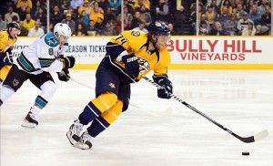 Nashville Predators forward Sergei Kostitsyn