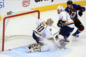 Nashville Predators backup goalie Chris Mason had a bad day