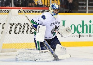 Roberto Luongo gave up no goals to the Nashville Predators