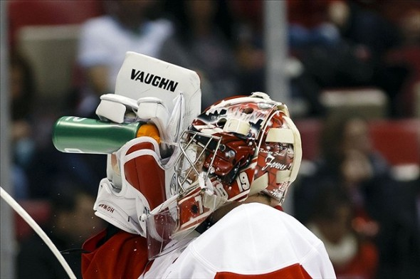 Jimmy Howard shut out the Nashville Predators
