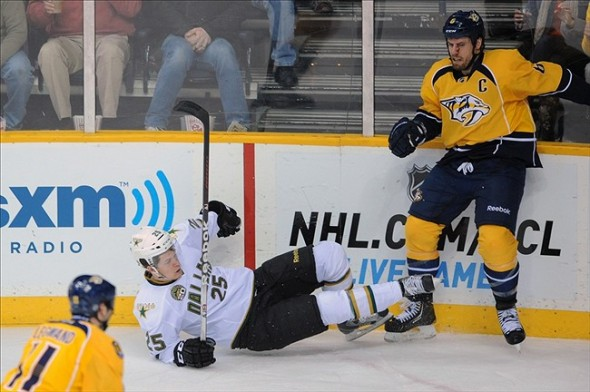 Nashville Predators captain Shea Weber destroyed Matt Fraser in the corner