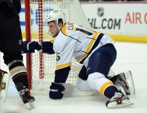 Nashville Predators forward Rich Clune