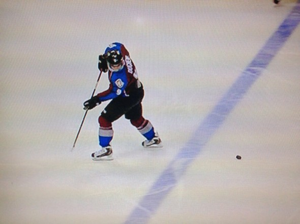 Two NHL officials missed this blatant offside violation