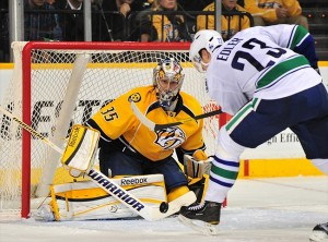 NHL: Vancouver Canucks at Nashville Predators