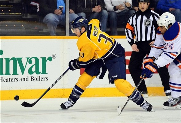 Nashville Predators forward Colin Wilson