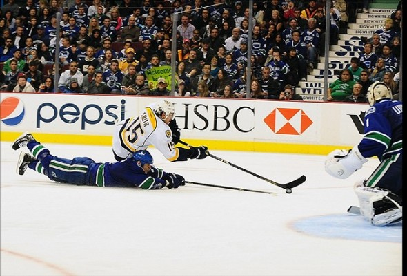 NHL: Nashville Predators at Vancouver Canucks