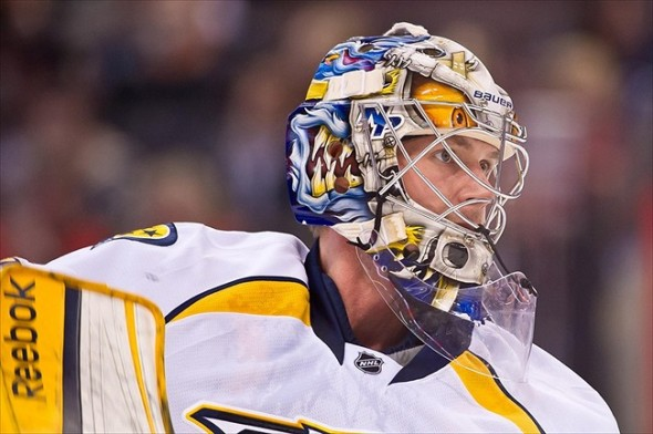 Nashville Predators goalie Pekka Rinne was taken in the 7th round of the NHL Draft