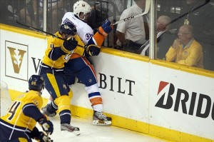 NHL: New York Islanders at Nashville Predators. Mandatory Credit: Joshua Lindsey-USA TODAY Sports