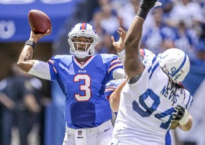 Rookie E.J. Manuel (thankfully) starts his first NFL game against the New England Patriots (Photo Credit: NFL.si.com)
