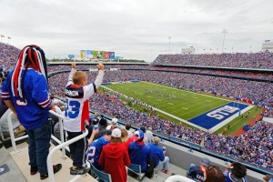Fans enjoy a Buffalo win over Carolina (Photo Credit: Buffalobills.com)