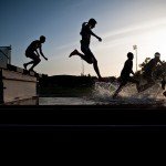 Twilight steeplechase at Stanford