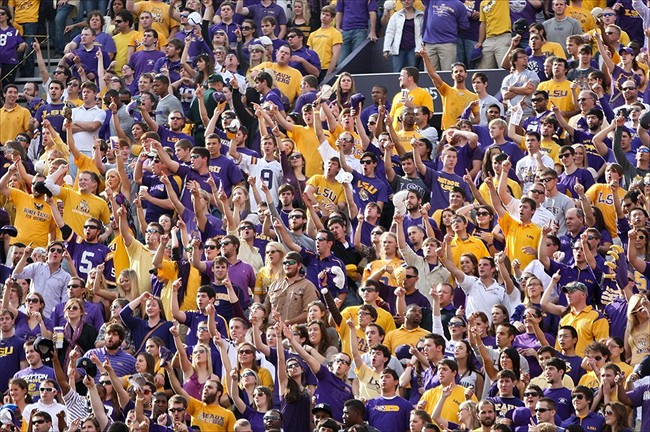 LSU Tigers fans cheer at Tiger Stadium. Derick E. Hingle-USA TODAY Sports