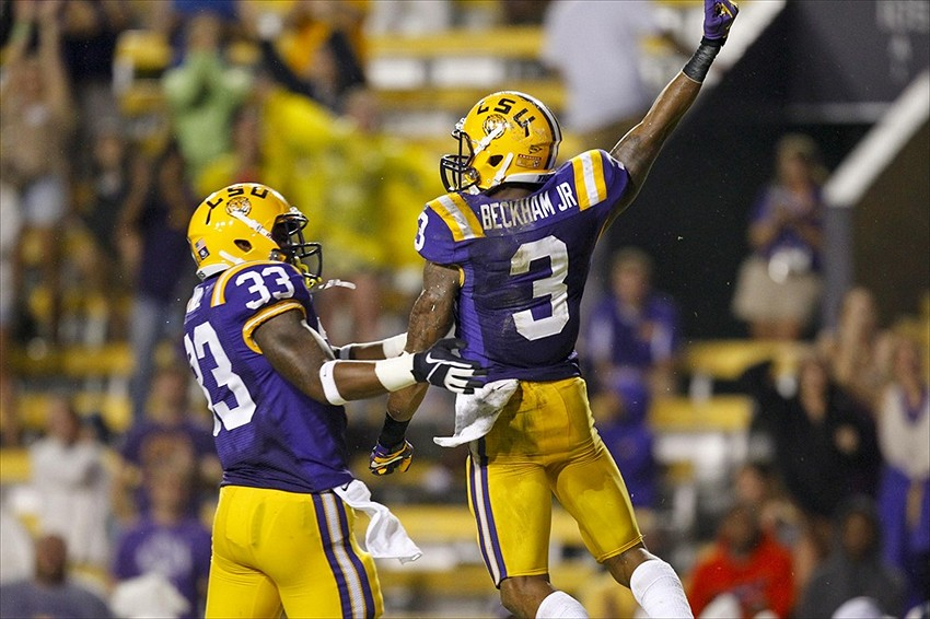 Jeremy Hill and Odell Beckham Jr