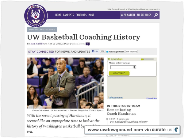 Clipped from http://www.uwdawgpound.com/2013/4/25/4259170/uw-basketball-coaching-history-lorenzo-romar-marv-harshman