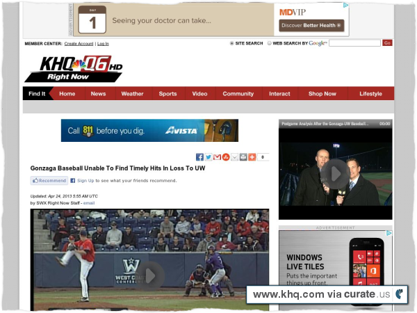 Clipped from http://www.khq.com/story/22060504/gonzaga-baseball-unable-to-find-timely-hits-in-loss-to-uw