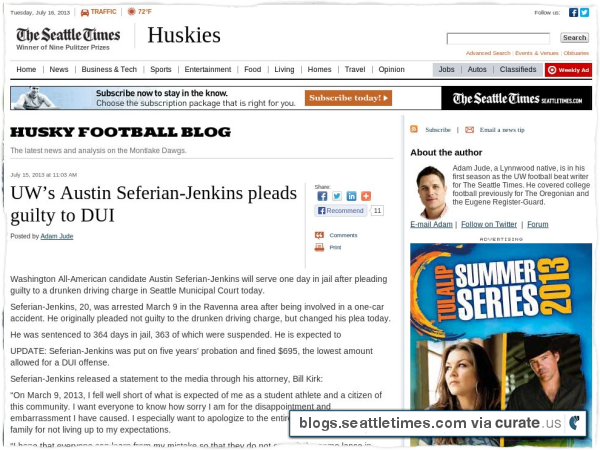 Clipped from http://blogs.seattletimes.com/huskyfootball/2013/07/15/uws-austin-seferian-jenkins-pleads-guilty-to-dui/