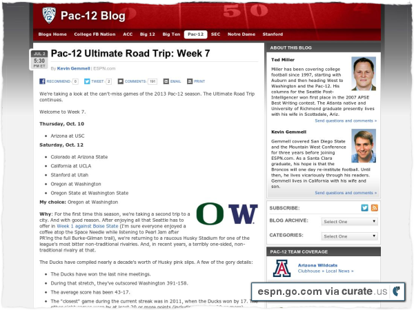 Clipped from http://espn.go.com/blog/pac12/post/_/id/58524/pac-12-ultimate-road-trip-week-7-2