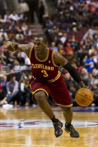 Nov 18, 2012; Philadelphia, PA, USA; Cleveland Cavaliers guard Dion Waiters (3) during the fourth quarter against the Philadelphia 76ers at the Wachovia Center. The Sixers defeated the Cavaliers 86-79. Mandatory Credit: Howard Smith-US PRESSWIRE