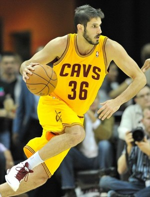 Nov 17, 2012; Cleveland, OH, USA; Cleveland Cavaliers small forward Omri Casspi (36) during a game against the Dallas Mavericks at Quicken Loans Arena. Dallas won 103-95. Mandatory Credit: David Richard-USA TODAY Sports