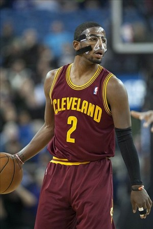 Jan 14, 2013; Sacramento, CA, USA; Cleveland Cavaliers point guard Kyrie Irving (2) controls the ball during the third quarter of the game against the Sacramento Kings at Sleep Train Arena. The Sacramento Kings defeated the Cleveland Cavaliers 124-118. Mandatory Credit: Ed Szczepanski-USA TODAY Sports