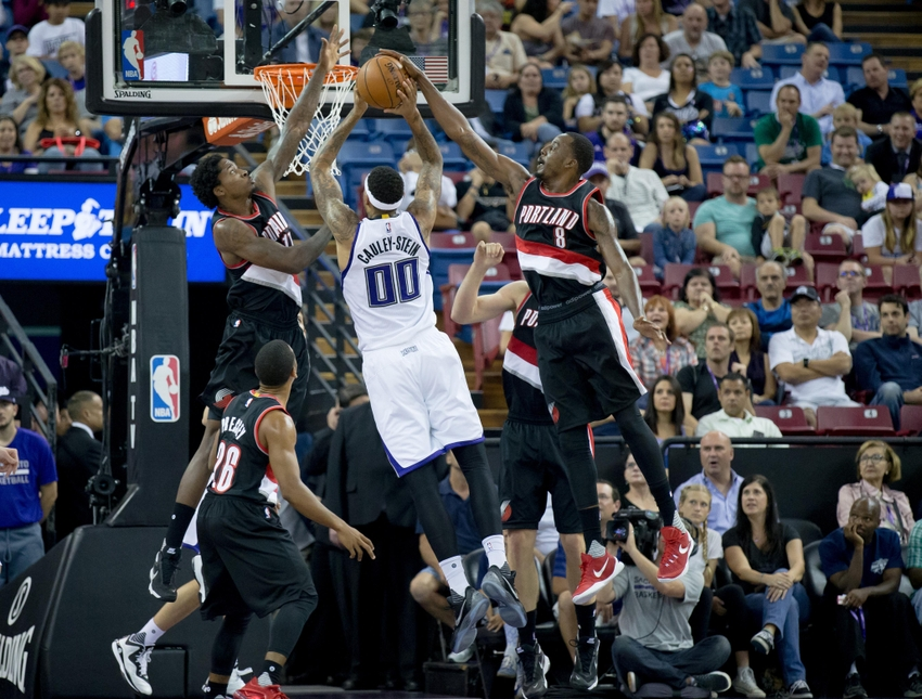 Al-farouq-aminu-willie-cauley-stein-ed-davis-nba-preseason-portland-trail-blazers-sacramento-kings