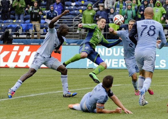 Sounders Start season 1-0-0 with late goal.