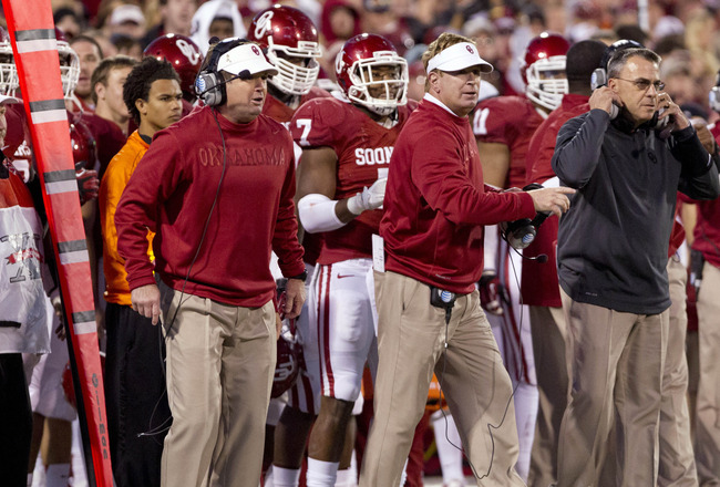 The Stoops brothers' focus should be on defense this offseason. Oklahoma gave up nearly 400 yards per game in 2012. Richard Rowe-USA TODAY Sports