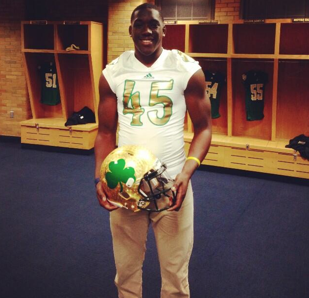 Samuel Clemens High School (Schertz, Texas) Linebacker Kolin Hill enjoys his official visit. (Courtesy: @KoLiNHill45)
