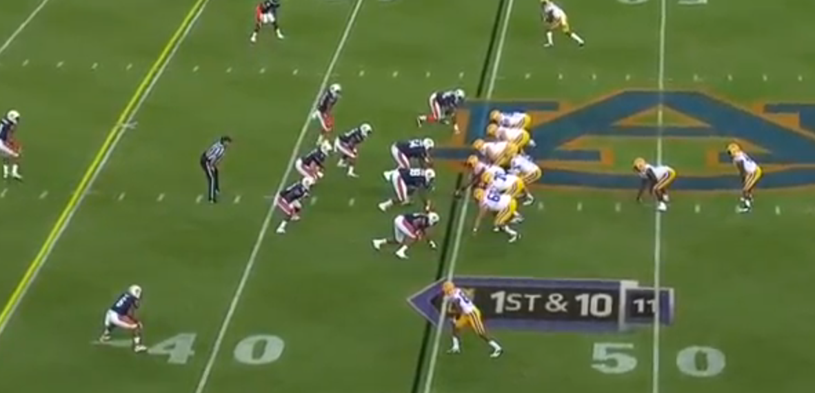 2012 Auburn Defensive alignment against #2 LSU. Courtesy: ESPN